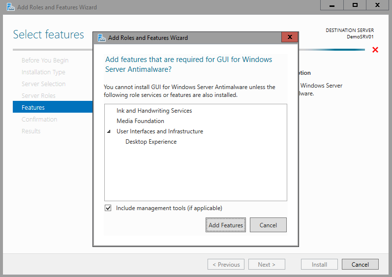 Windows Server Technical Preview 2 – Windows Server Antimalware
